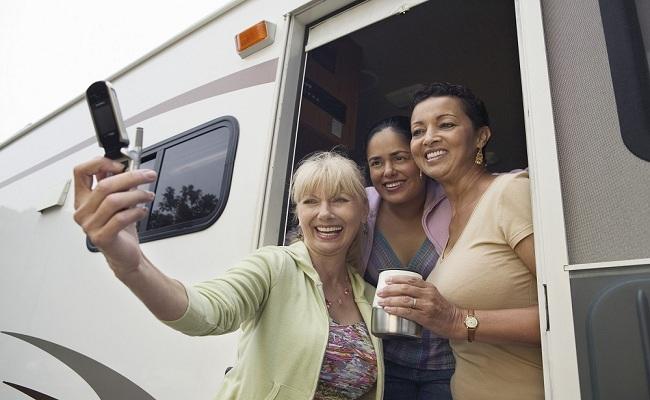 Travelling by caravan